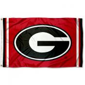 "Georgia Bulldogs Red ""G"" Logo Flag"