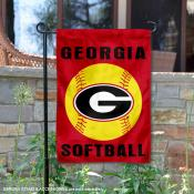 Georgia Bulldogs Softball Garden Flag