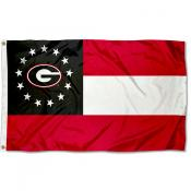 Georgia Bulldogs State of Georgia Flag