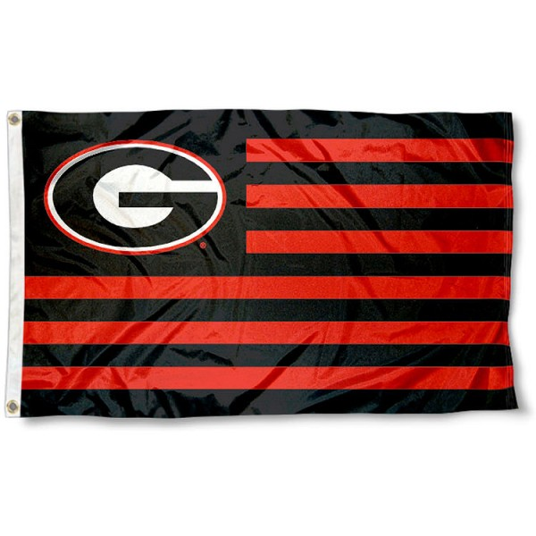 Georgia Bulldogs Striped Flag