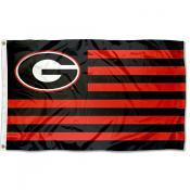 Georgia Bulldogs Striped Flag