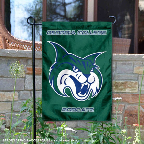 Georgia College Bobcats Double Sided Garden Flag is 13x18 inches in size, is made of 2-layer polyester, screen printed university athletic logos and lettering, and is readable and viewable correctly on both sides. Available with same day shipping, our Georgia College Bobcats Double Sided Garden Flag is officially licensed and team approved by the university and the NCAA.
