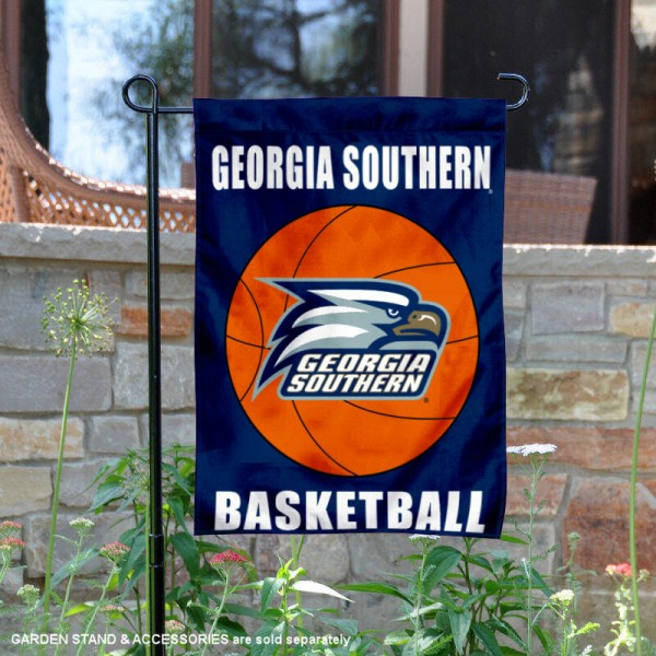 Georgia Southern Eagles Basketball Garden Banner is 13x18 inches in size, is made of 2-layer polyester, screen printed athletic logos and lettering. Available with Same Day Express Shipping, Our Georgia Southern Eagles Basketball Garden Banner is officially licensed and approved by the school and the NCAA.