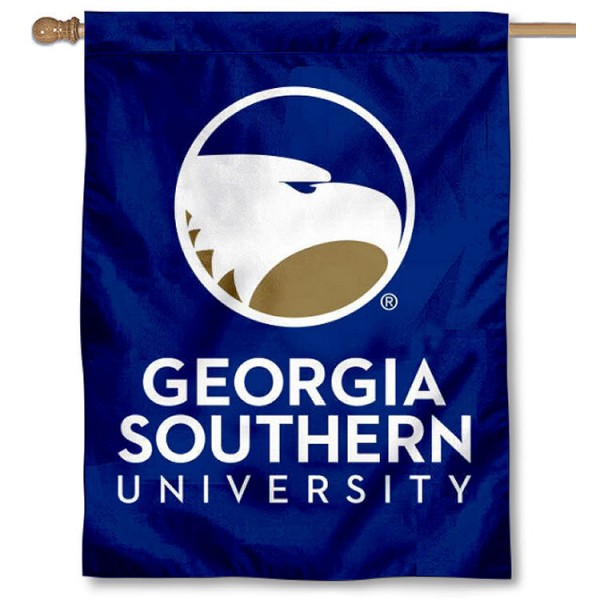 Georgia Southern University Banner Flag is a vertical house flag which measures 30x40 inches, is made of 2 ply 100% polyester, offers dye sublimated NCAA team insignias, and has a top pole sleeve to hang vertically. Our Georgia Southern University Banner Flag is officially licensed by the selected university and the NCAA.