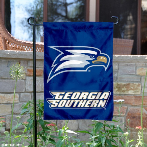 Georgia Southern University Garden Flag is 13x18 inches in size, is made of 2-layer polyester, screen printed Georgia Southern University athletic logos and lettering. Available with Same Day Express Shipping, Our Georgia Southern University Garden Flag is officially licensed and approved by Georgia Southern University and the NCAA.