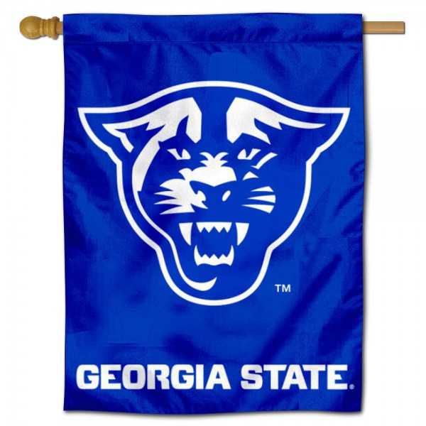 "Georgia State Panthers Banner Flag is constructed of polyester material, is a vertical house flag, measures 30""x40"", offers screen printed athletic insignias, and has a top pole sleeve to hang vertically. Our Georgia State Panthers Banner Flag is Officially Licensed by Georgia State Panthers and NCAA."