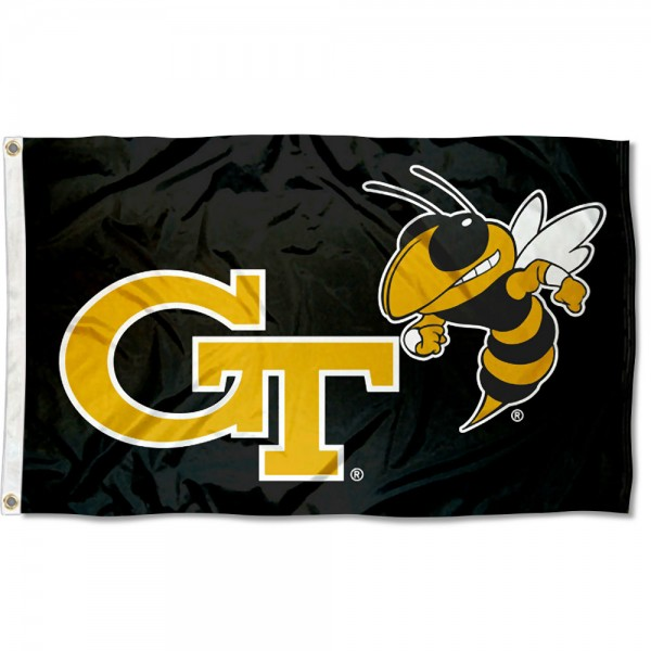 Georgia Tech Black Flag measures 3x5 feet, is made of 100% polyester, offers quadruple stitched flyends, has two metal grommets, and offers screen printed NCAA team logos and insignias. Our Georgia Tech Black Flag is officially licensed by the selected university and NCAA.