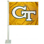 Georgia Tech Car Window Flag
