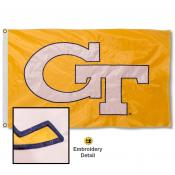 Georgia Tech Nylon Embroidered Flag