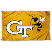 Georgia Tech Ramblin Wreck Logo Flag