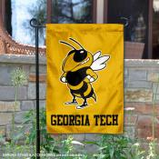 Georgia Tech Yellow Jacket Logo Garden Flag