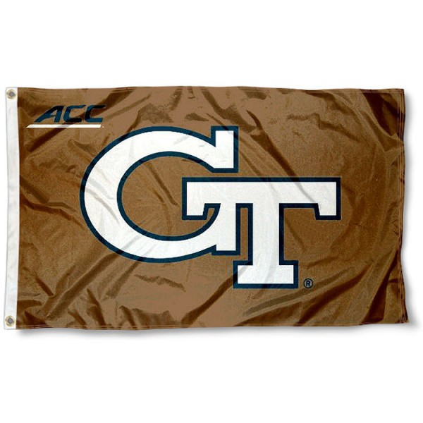 Georgia Tech Yellow Jackets ACC Flag measures 3'x5', is made of 100% poly, has quadruple stitched sewing, two metal grommets, and has double sided Team University logos. Our Georgia Tech Yellow Jackets ACC Flag is officially licensed by the selected university and the NCAA.