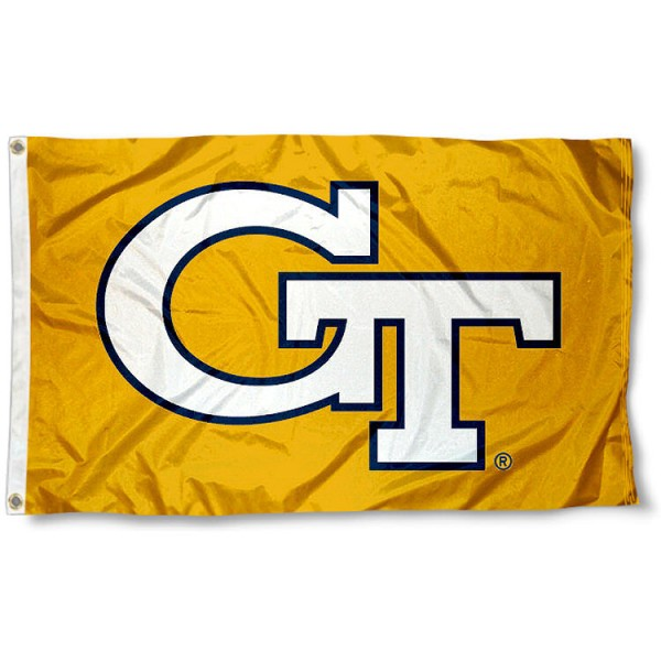 Georgia Tech Yellow Jackets Flag measures 3'x5', is made of 100% poly, has quadruple stitched sewing, two metal grommets, and has double sided Georgia Tech Yellow Jackets logos. Our Georgia Tech Yellow Jackets Flag is officially licensed by the selected university and the NCAA