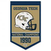Georgia Tech Yellow Jackets Football National Champions Banner