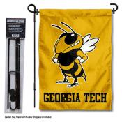 Georgia Tech Yellow Jackets Garden Flag and Pole Stand Mount