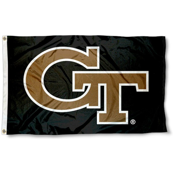 Georgia Tech Yellow Jackets Logo Flag measures 3'x5', is made of 100% poly, has quadruple stitched sewing, two metal grommets, and has double sided Team University logos. Our Georgia Tech Yellow Jackets 3x5 Flag is officially licensed by the selected university and the NCAA.