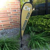 Georgia Tech Yellow Jackets Small Feather Flag