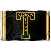 Georgia Tech Yellow Jackets Throwback Vault Logo Flag