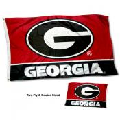 Georgia UGA Bulldogs Double Sided G Logo Flag