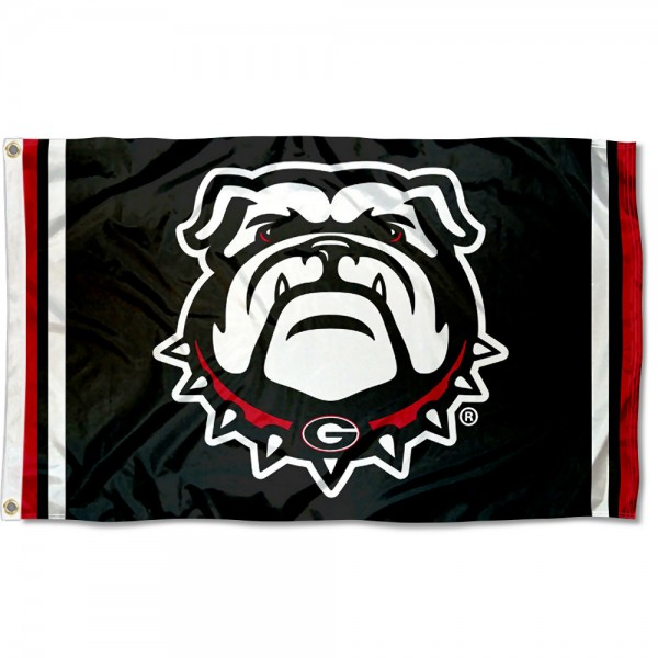 Georgia UGA Bulldogs Jersey Stripes Flag measures 3x5 feet, is made of 100% polyester, offers quadruple stitched flyends, has two metal grommets, and offers screen printed NCAA team logos and insignias. Our Georgia UGA Bulldogs Jersey Stripes Flag is officially licensed by the selected university and NCAA.
