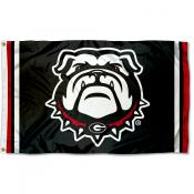 Georgia UGA Bulldogs Jersey Stripes Flag