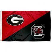 Georgia vs South Carolina House Divided 3x5 Flag