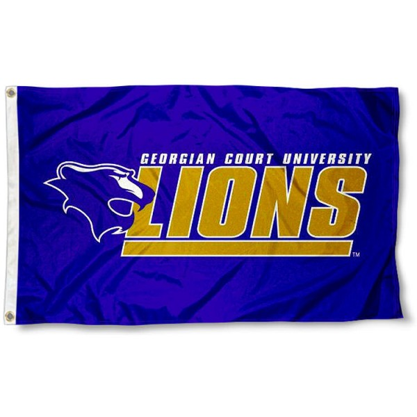 Georgian Court Lions Flag measures 3'x5', is made of 100% poly, has quadruple stitched sewing, two metal grommets, and has double sided Team University logos. Our GCU Lions 3x5 Flag is officially licensed by the selected university and the NCAA.