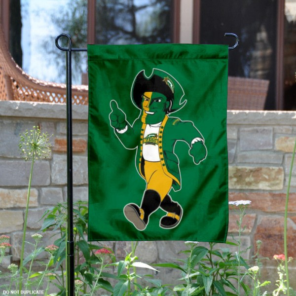 GMU Patriots Mascot Logo Garden Flag is 13x18 inches in size, is made of 2-layer polyester, screen printed George Mason University athletic logos and lettering. Available with Same Day Express Shipping, Our GMU Patriots Mascot Logo Garden Flag is officially licensed and approved by George Mason University and the NCAA.