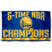 Golden State Warriors 6 Time NBA Champions Flag