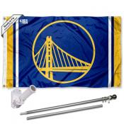 Golden State Warriors Flag Pole and Bracket Kit