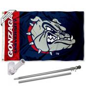 Gonzaga Bulldogs Flag Pole and Bracket Kit