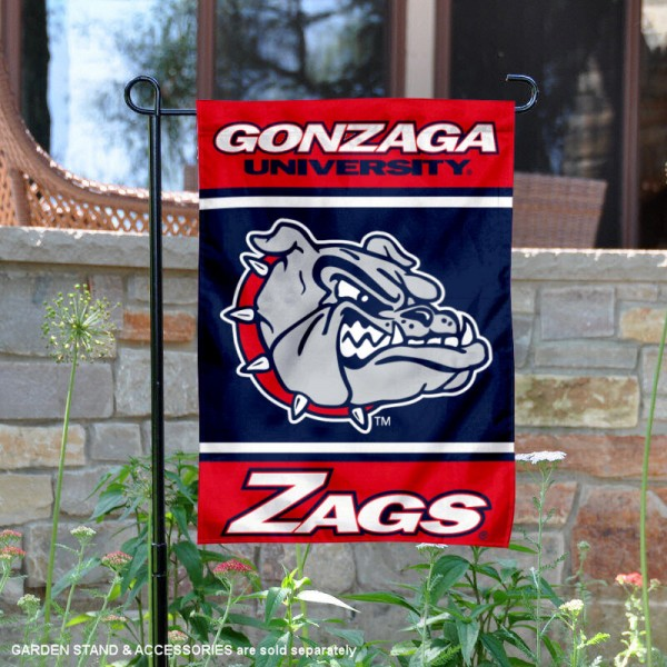 Gonzaga Bulldogs Garden Flag is 13x18 inches in size, is made of 2-layer polyester, screen printed logos and lettering. Available with Same Day Express Shipping, Our Gonzaga Bulldogs Garden Flag is officially licensed and approved by the NCAA.