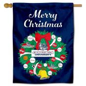 Gonzaga Bulldogs Happy Holidays Banner Flag