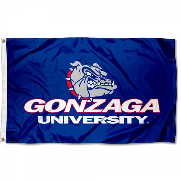 Gonzaga Bulldogs Wordmark Flag measures 3x5 feet, is made of 100% polyester, offers quadruple stitched flyends, has two metal grommets, and offers screen printed NCAA team logos and insignias. Our Gonzaga Bulldogs Wordmark Flag is officially licensed by the selected university and NCAA.