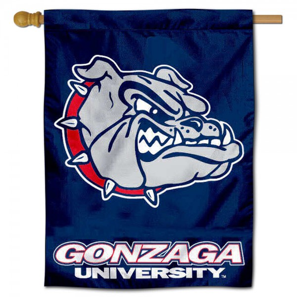 "Gonzaga University Bulldogs House Flag is constructed of polyester material, is a vertical house flag, measures 30""x40"", offers screen printed athletic insignias, and has a top pole sleeve to hang vertically. Our Gonzaga University Bulldogs House Flag is Officially Licensed by Gonzaga University Bulldogs and NCAA."