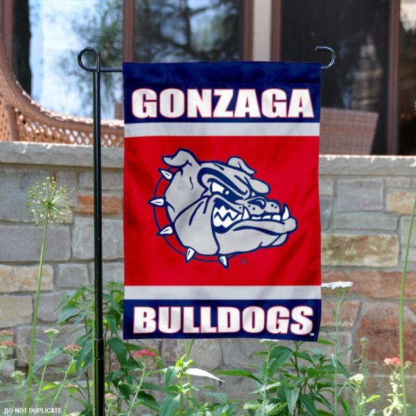 Gonzaga University Garden Flag is 13x18 inches in size, is made of 2-layer polyester, screen printed Gonzaga University athletic logos and lettering. Available with Same Day Express Shipping, Our Gonzaga University Garden Flag is officially licensed and approved by Gonzaga University and the NCAA.