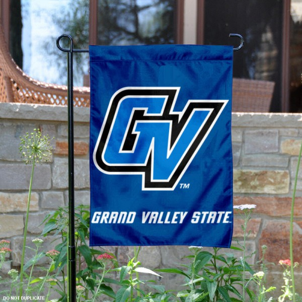 Grand Valley State University Garden Flag is 13x18 inches in size, is made of 2-layer polyester, screen printed Grand Valley State University athletic logos and lettering. Available with Same Day Express Shipping, Our Grand Valley State University Garden Flag is officially licensed and approved by Grand Valley State University and the NCAA.