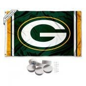 Green Bay Packers Banner Flag with Tack Wall Pads