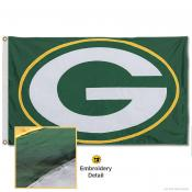 Green Bay Packers Embroidered Nylon Flag