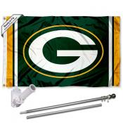 Green Bay Packers Flag Pole and Bracket Kit