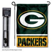 Green Bay Packers Garden Flag and Stand