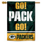 Green Bay Packers Go Pack Go Double Sided House Banner