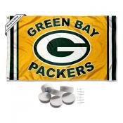 Green Bay Packers Gold Banner Flag with Tack Wall Pads