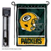 Green Bay Packers Helmet Garden Banner and Flag Stand