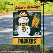 Green Bay Packers Holiday Winter Snow Double Sided Garden Flag