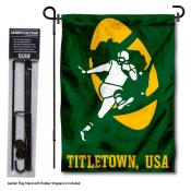 Green Bay Packers Retro Logo Garden Flag and Stand
