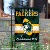 Green Bay Packers Throwback Logo Double Sided Garden Flag Flag