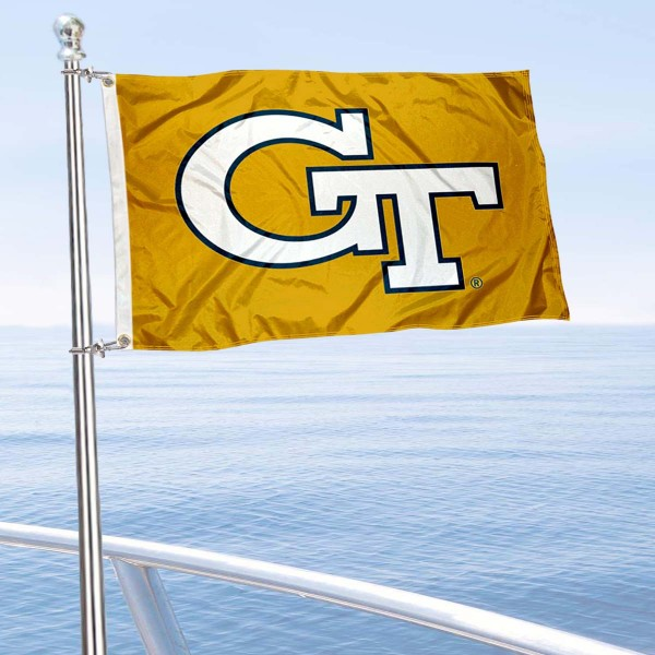 GT Yellow Jackets Golf Cart Flag is a small 12x18 inches, made of 2-ply polyester with quad stitched flyends, and is double-sided. Our Golf Cart Logo Flags are Officially Licensed and Approved by Georgia Tech and NCAA.