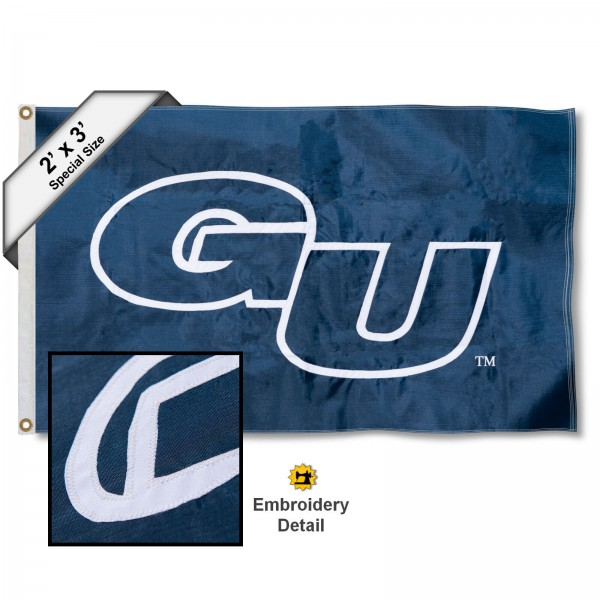 GU Bulldogs Small 2'x3' Flag measures 2x3 feet, is made of 100% nylon, offers quadruple stitched flyends, has two brass grommets, and offers embroidered GU Bulldogs logos, letters, and insignias. Our GU Bulldogs Small 2'x3' Flag is Officially Licensed by the selected university.