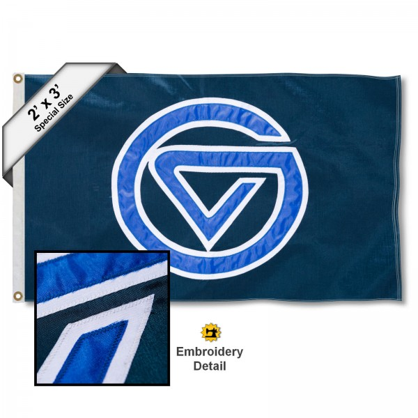 GVSU Lakers Small 2'x3' Flag measures 2x3 feet, is made of 100% nylon, offers quadruple stitched flyends, has two brass grommets, and offers embroidered GVSU Lakers logos, letters, and insignias. Our 2x3 foot flag is Officially Licensed by the selected university.